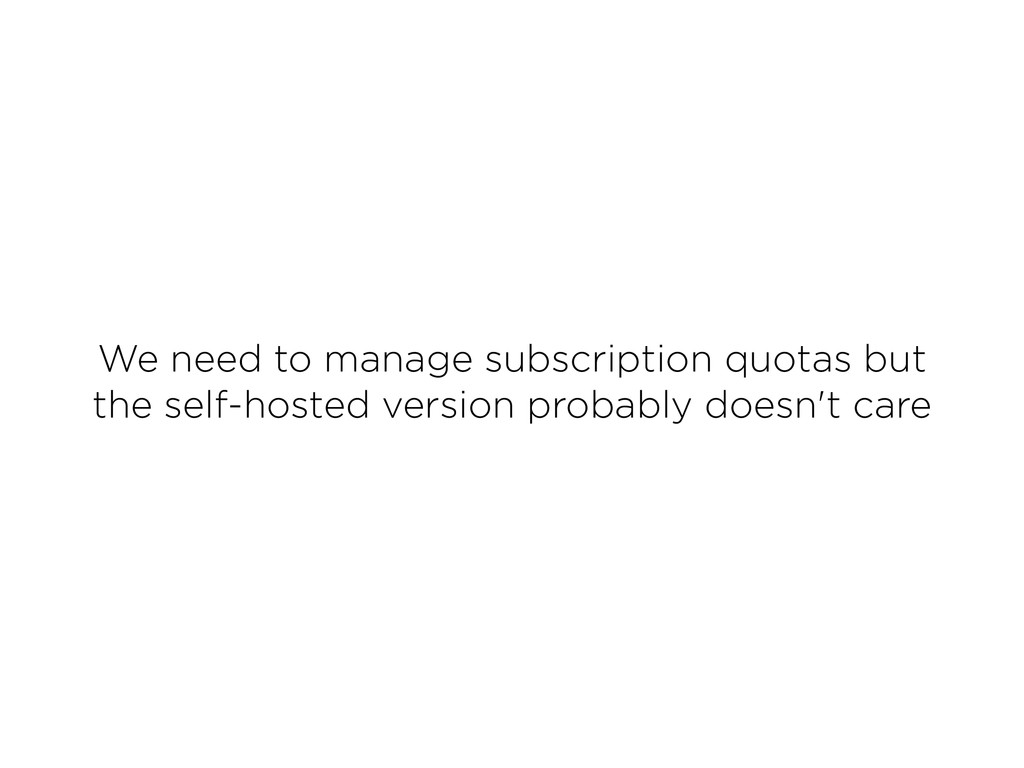 We need to manage subscription quotas but the ...
