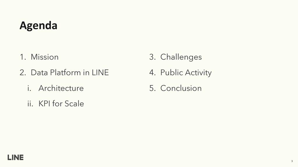 Agenda 1. Mission 2. Data Platform in LINE i. A...
