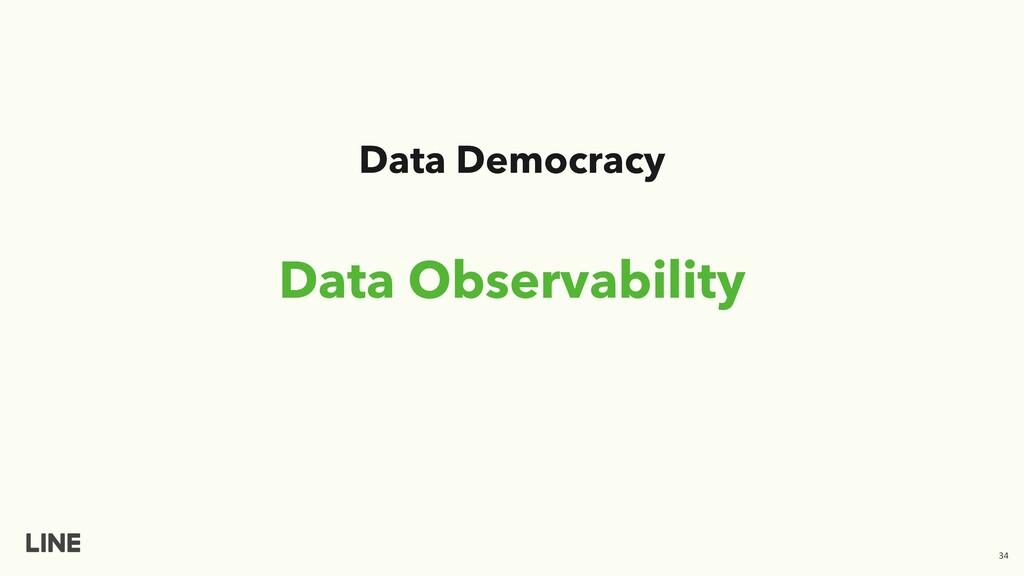 Data Observability Data Democracy 34