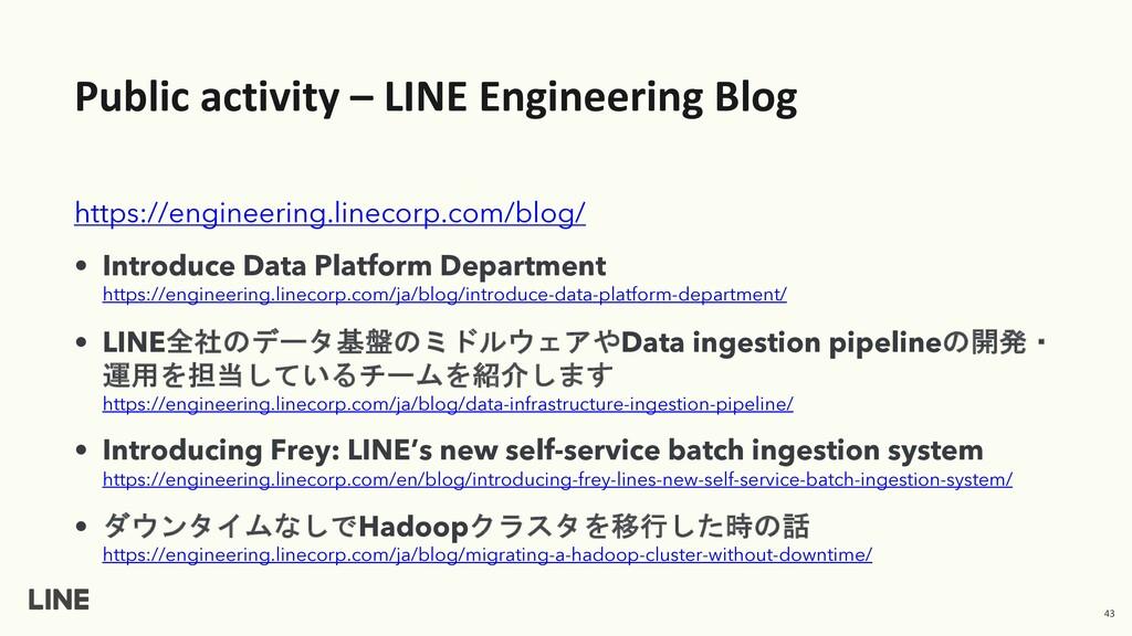 Public activity – LINE Engineering Blog https:/...