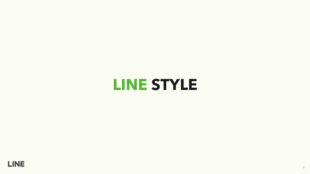 LINE STYLE 7