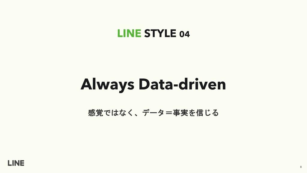 Always Data-driven LINE STYLE 04 感覚ではなく、データ=事実を...