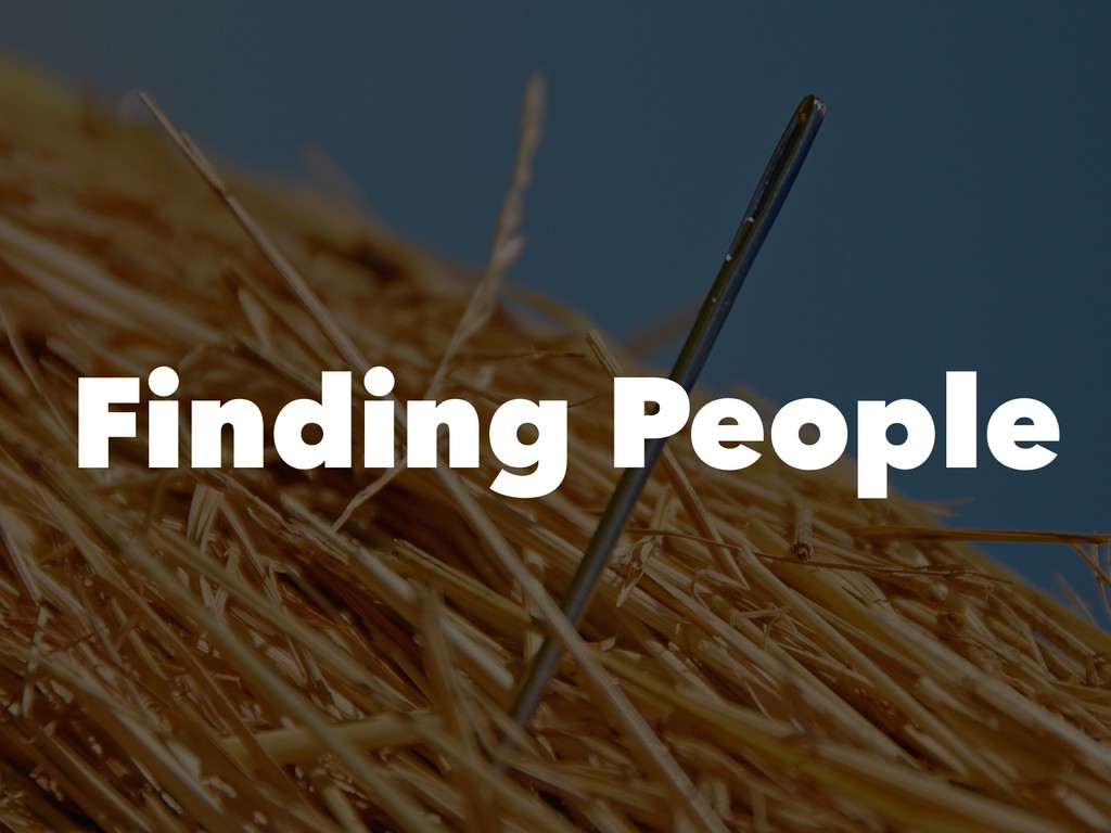 !12 Finding People
