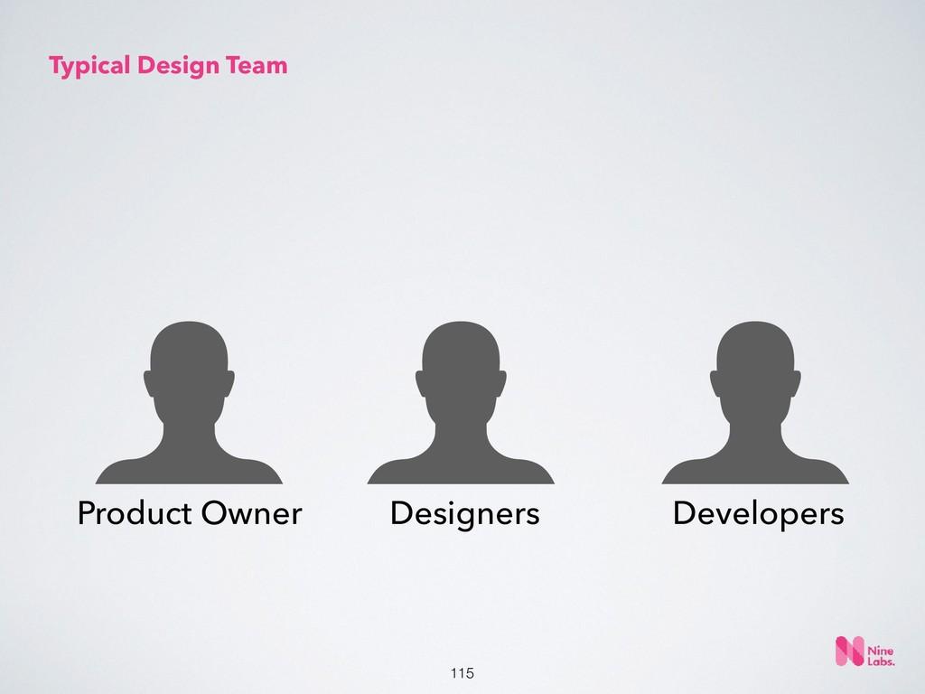 !115 Typical Design Team Product Owner Designer...