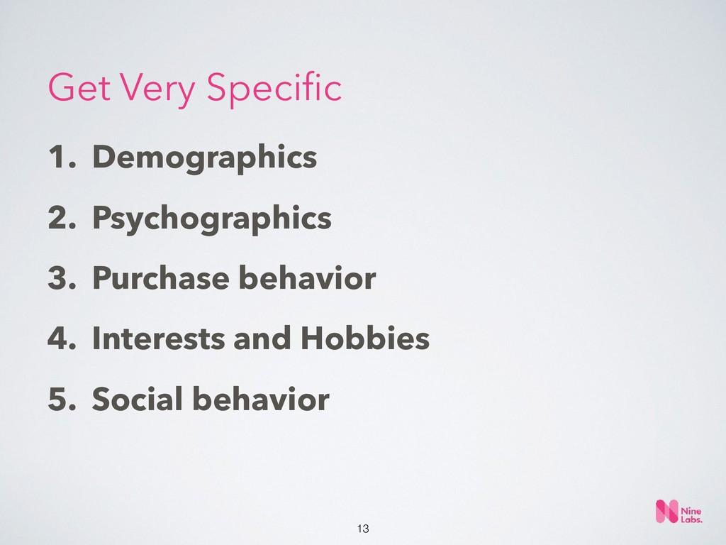 !13 1. Demographics 2. Psychographics 3. Purcha...