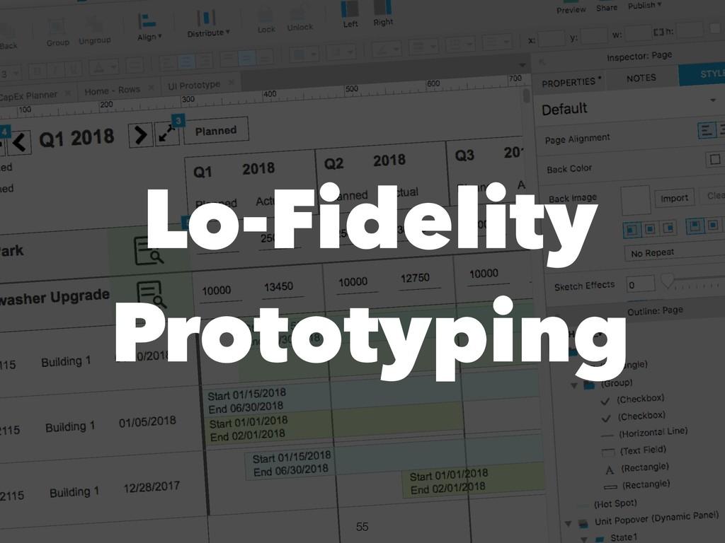 !55 Lo-Fidelity Prototyping