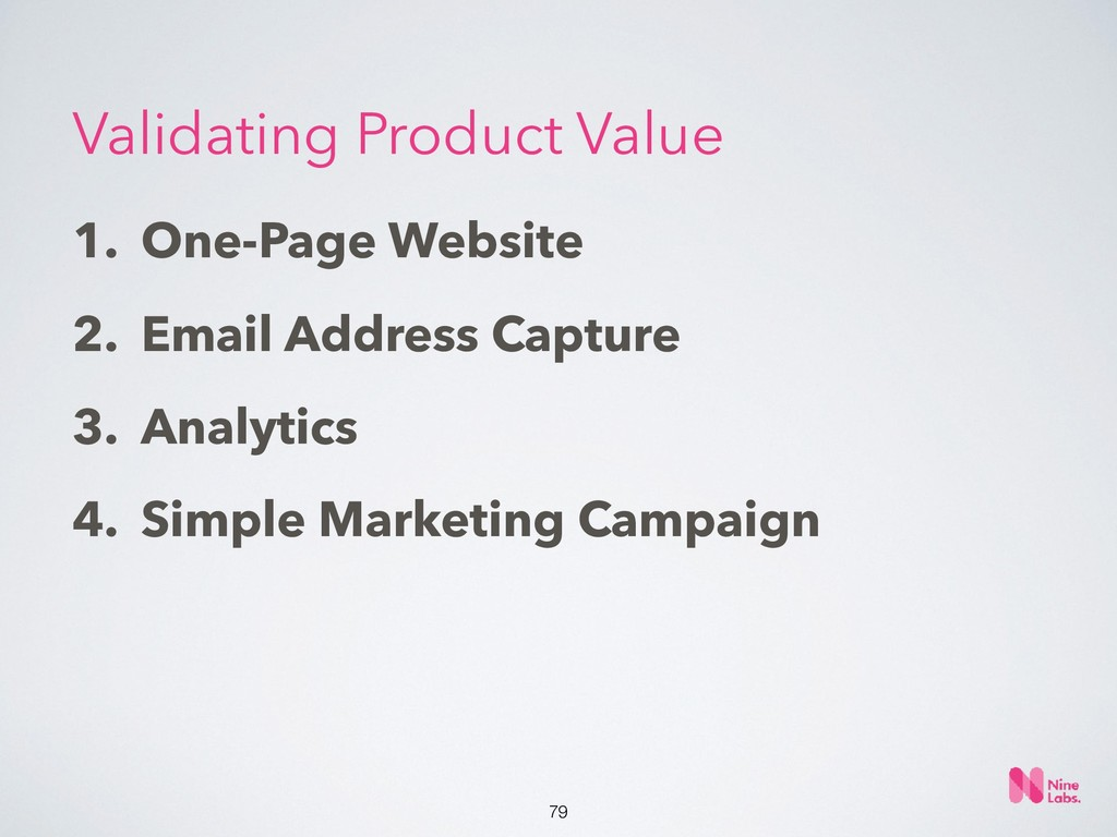 !79 1. One-Page Website 2. Email Address Captur...