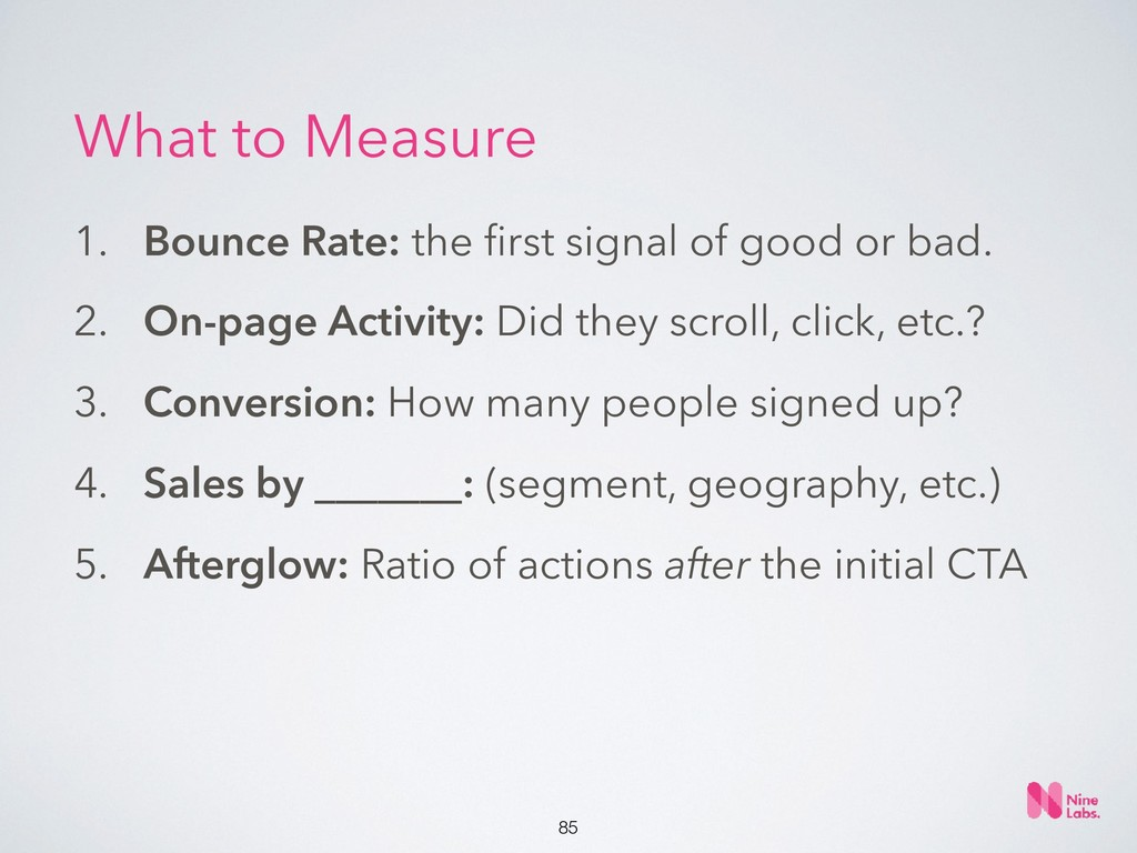 !85 1. Bounce Rate: the first signal of good or ...