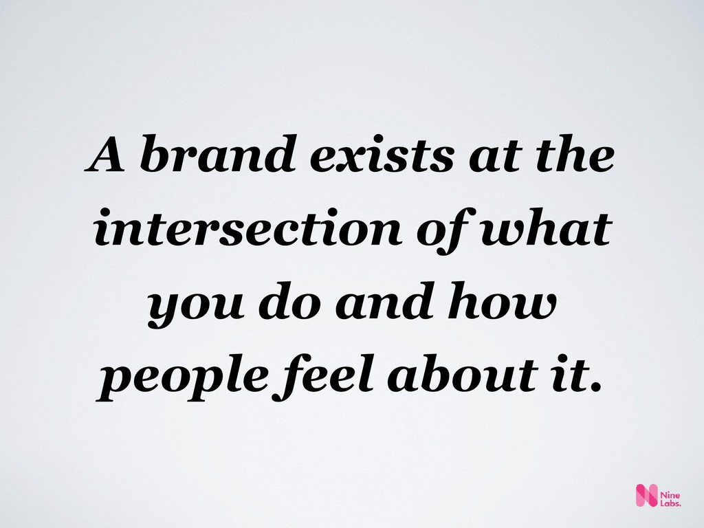 A brand exists at the intersection of what you ...
