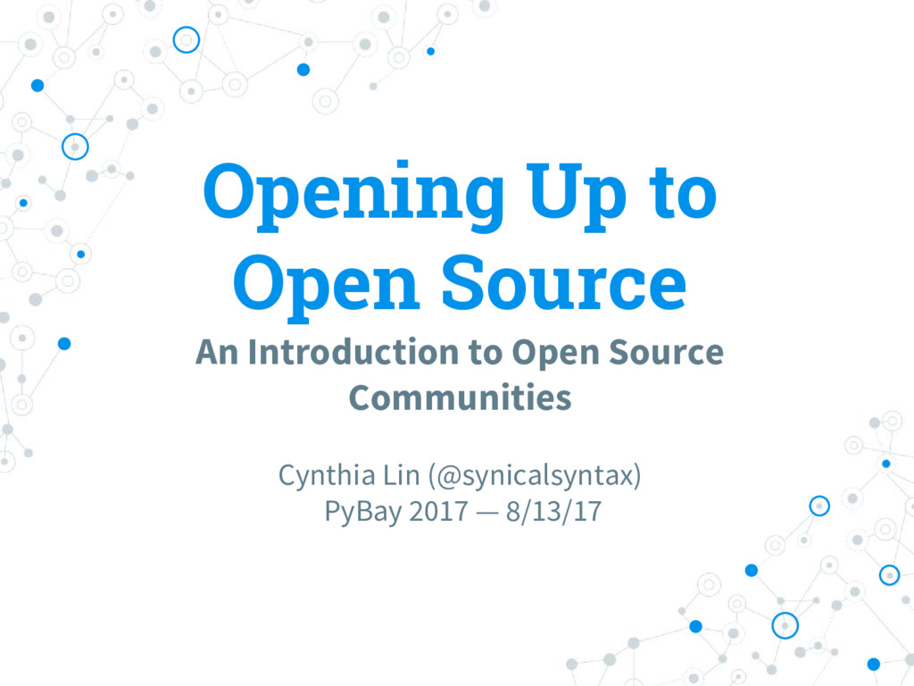 Opening Up to Open Source An Introduction to Op...