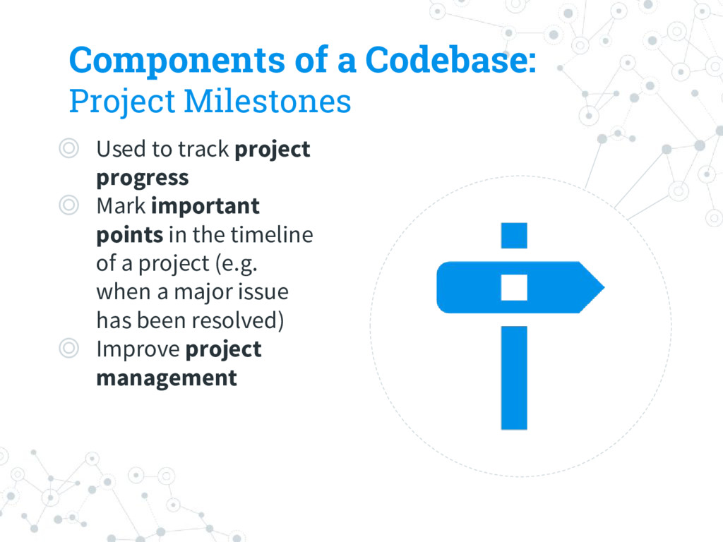 Components of a Codebase: Project Milestones ◎ ...