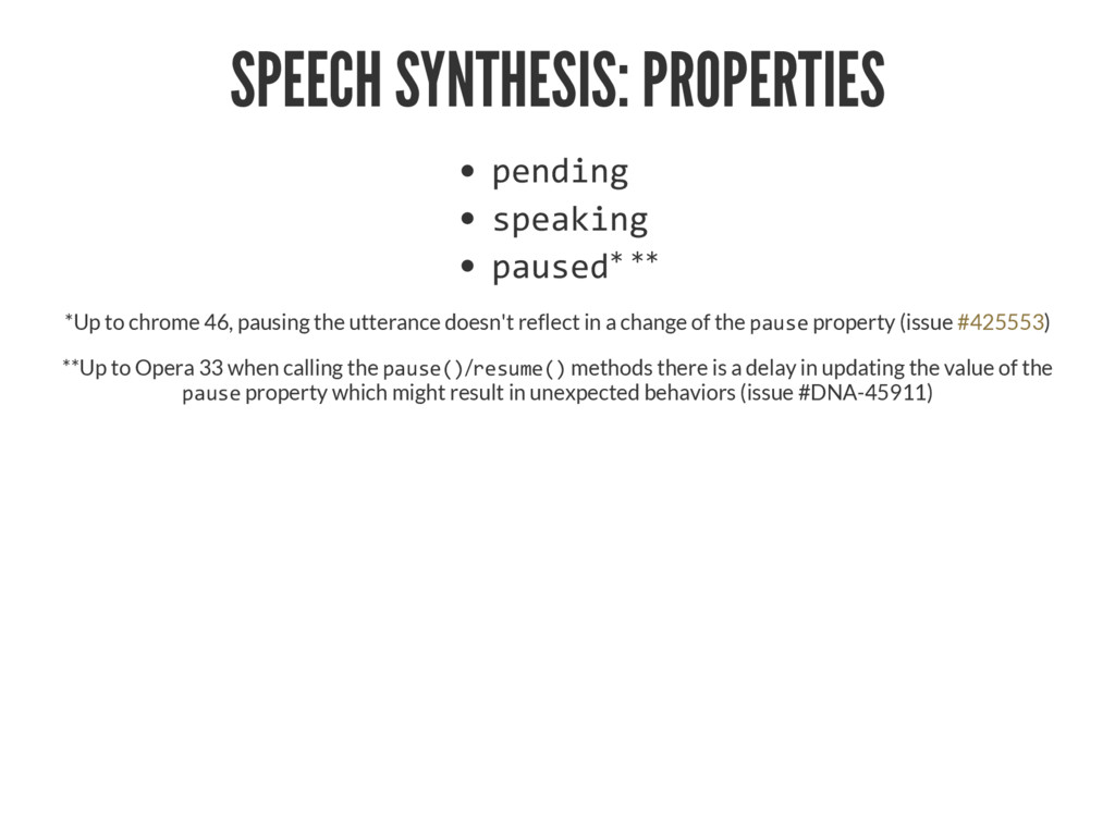 SPEECH SYNTHESIS: PROPERTIES '‡†‹‰ •'‡ƒ‹‰ '...