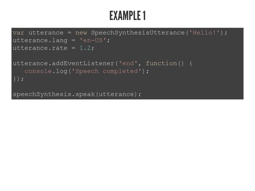 EXAMPLE 1 YDUXWWHUDQFH QHZ6SHHFK6\QWKHVLV8W...