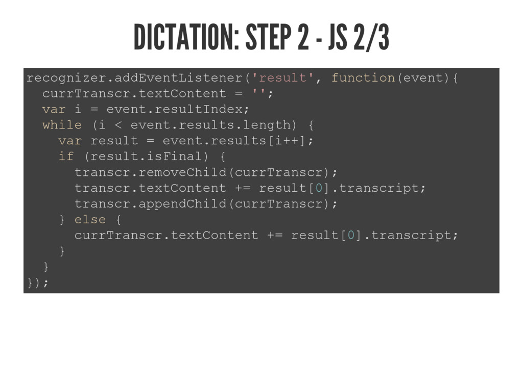 DICTATION: STEP 2 - JS 2/3 UHFRJQL]HUDGG(YHQW/...