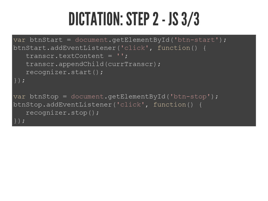 DICTATION: STEP 2 - JS 3/3 YDUEWQ6WDUW GRFXP...