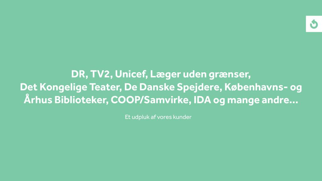 DR, TV2, Unicef, Læger uden grænser, Det Kongel...