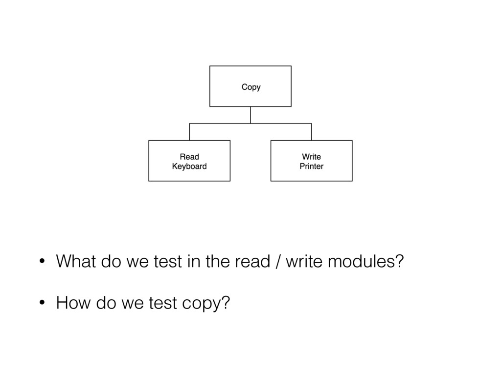 • What do we test in the read / write modules? ...