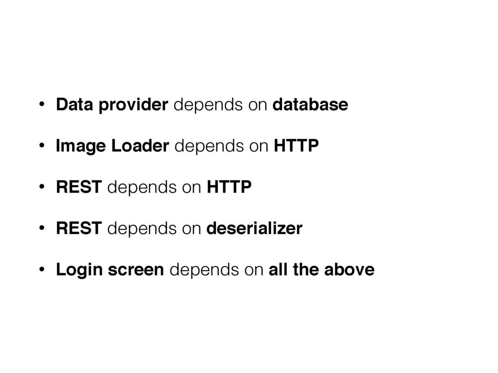 • Data provider depends on database • Image Loa...