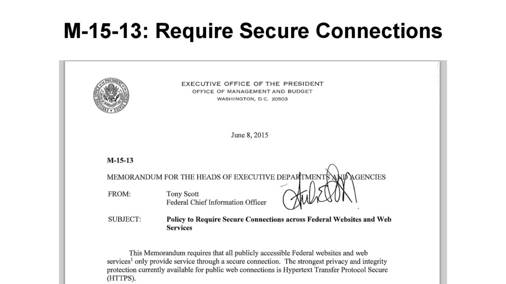 M-15-13: Require Secure Connections
