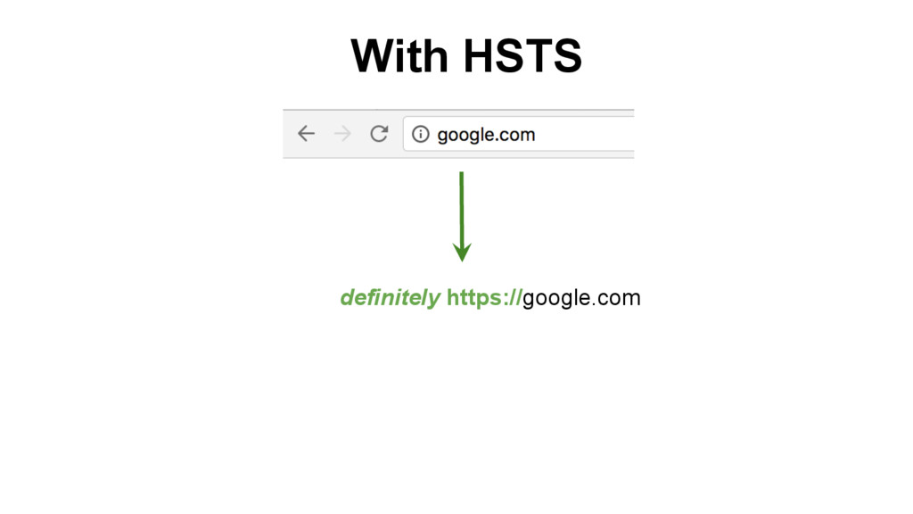 definitely https://google.com With HSTS