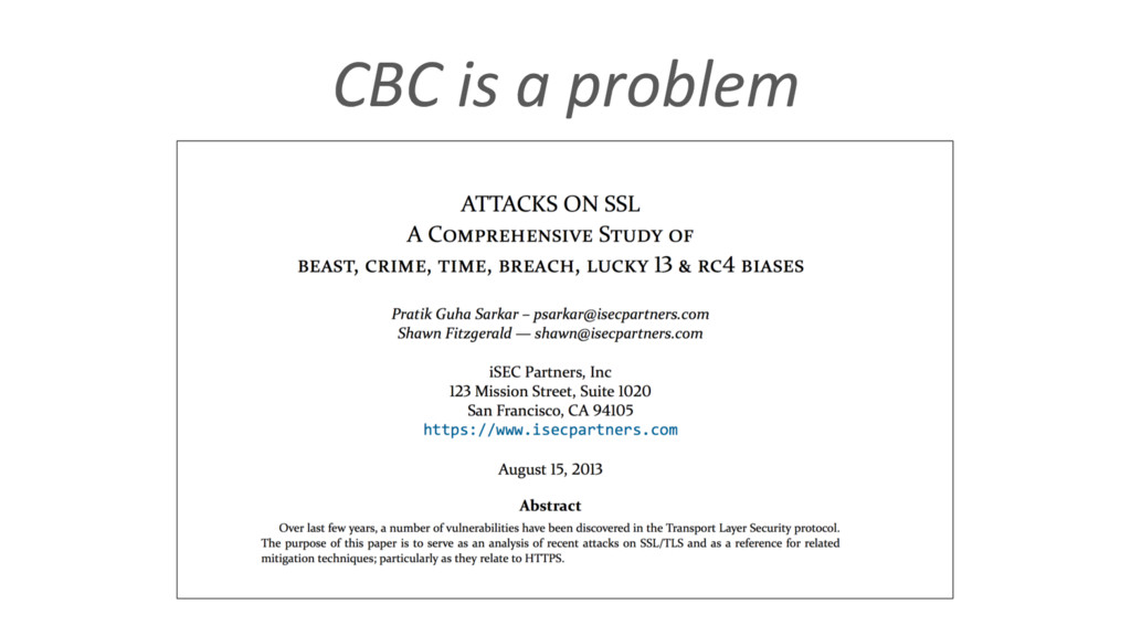 CBC is a problem