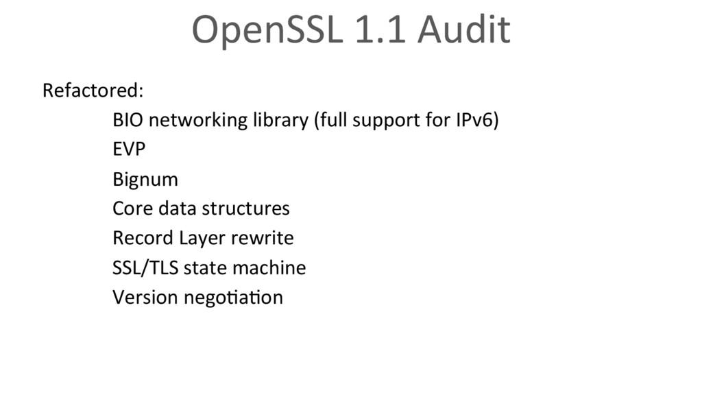OpenSSL 1.1 Audit Refactored: BIO networking li...