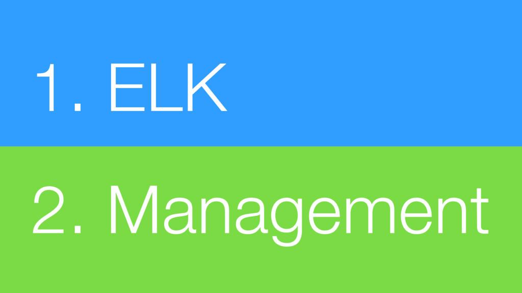 1. ELK 2. Management
