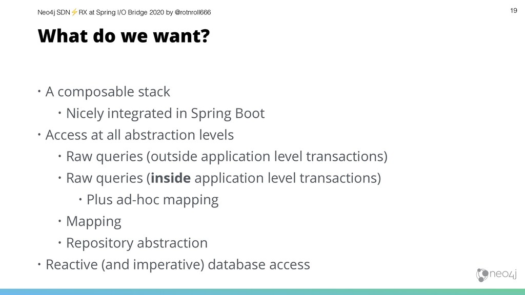 Neo4j SDN⚡ RX at Spring I/O Bridge 2020 by @rot...