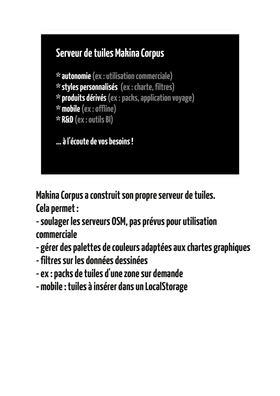 Serveur de tuiles Makina Corpus * autonomie (ex...