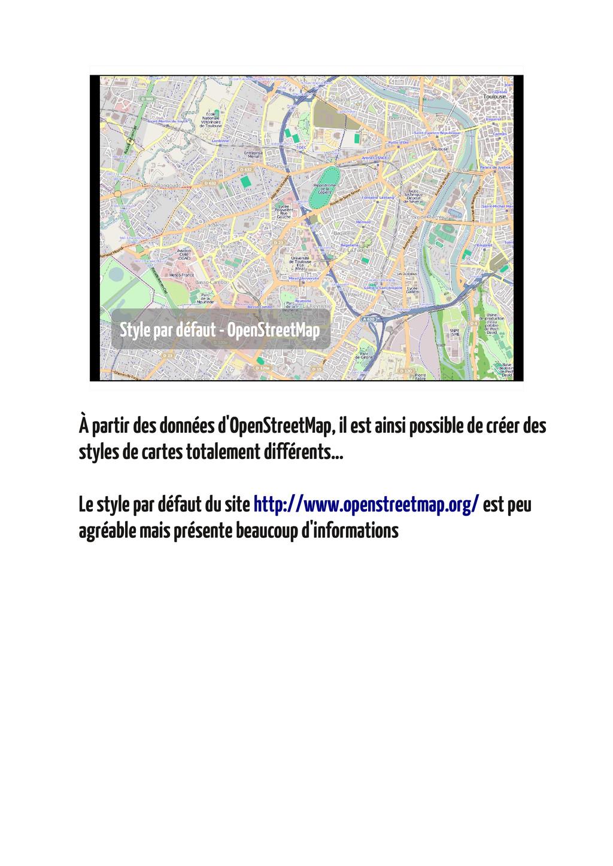 Style par défaut - OpenStreetMap À partir des d...