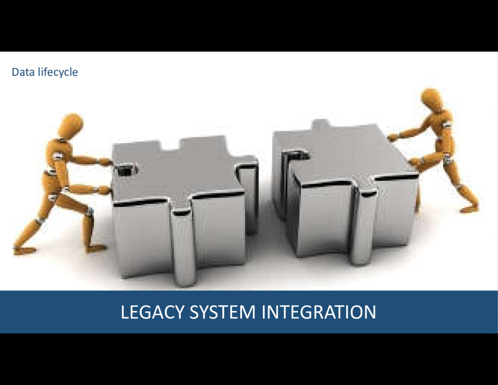 LEGACY SYSTEM INTEGRATION Data lifecycle