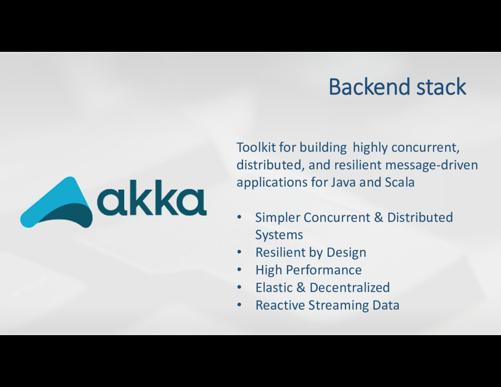 Backend stack Toolkit for building highly concu...