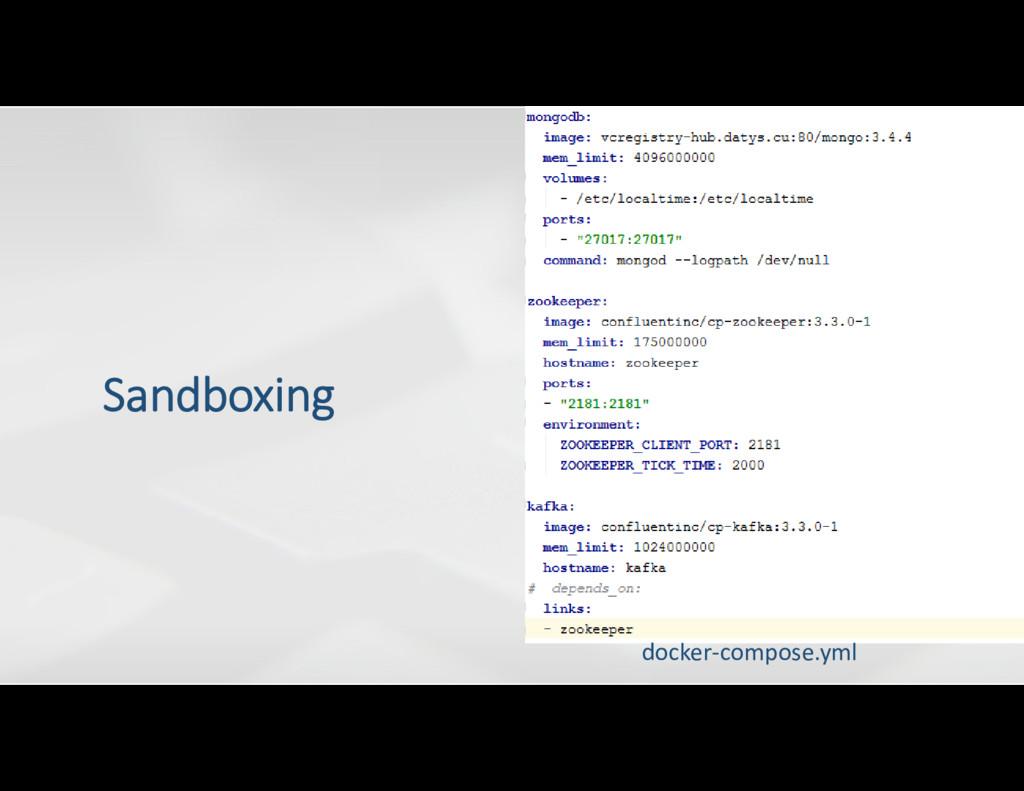 docker-compose.yml Sandboxing