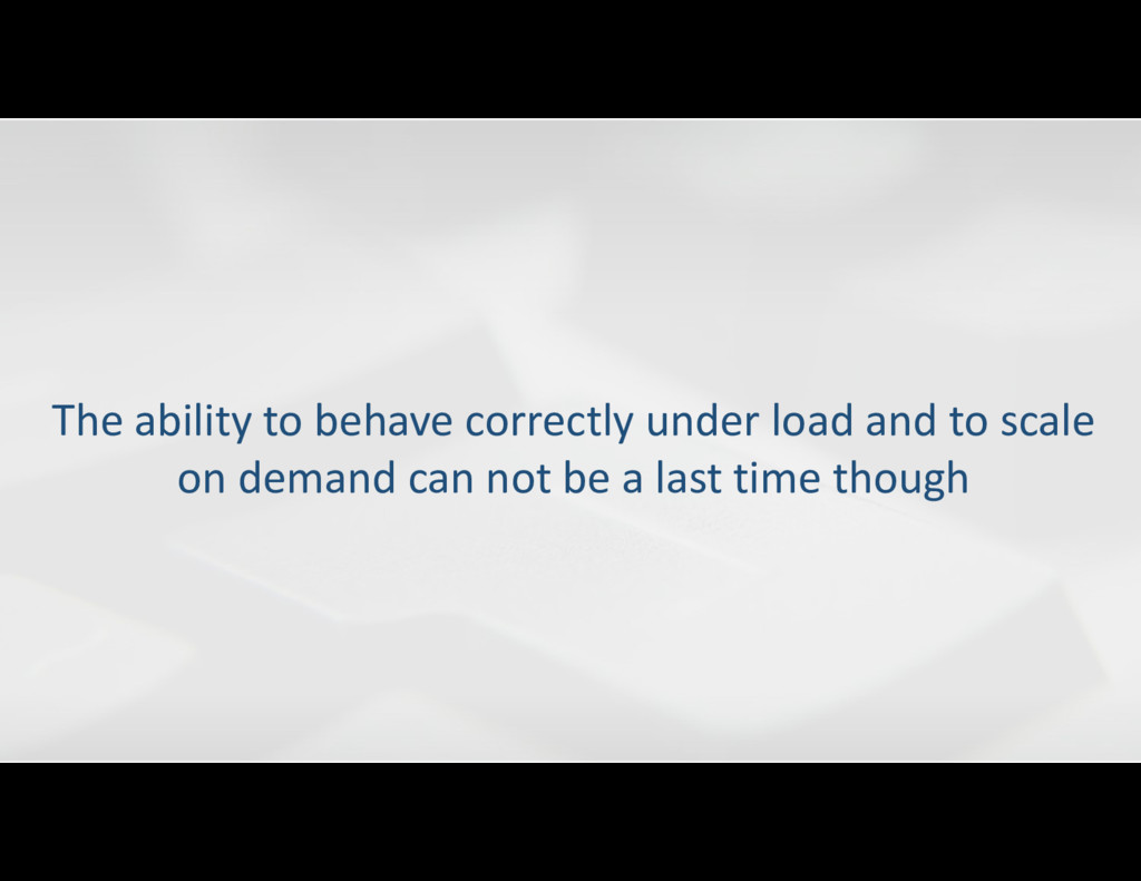 The ability to behave correctly under load and ...