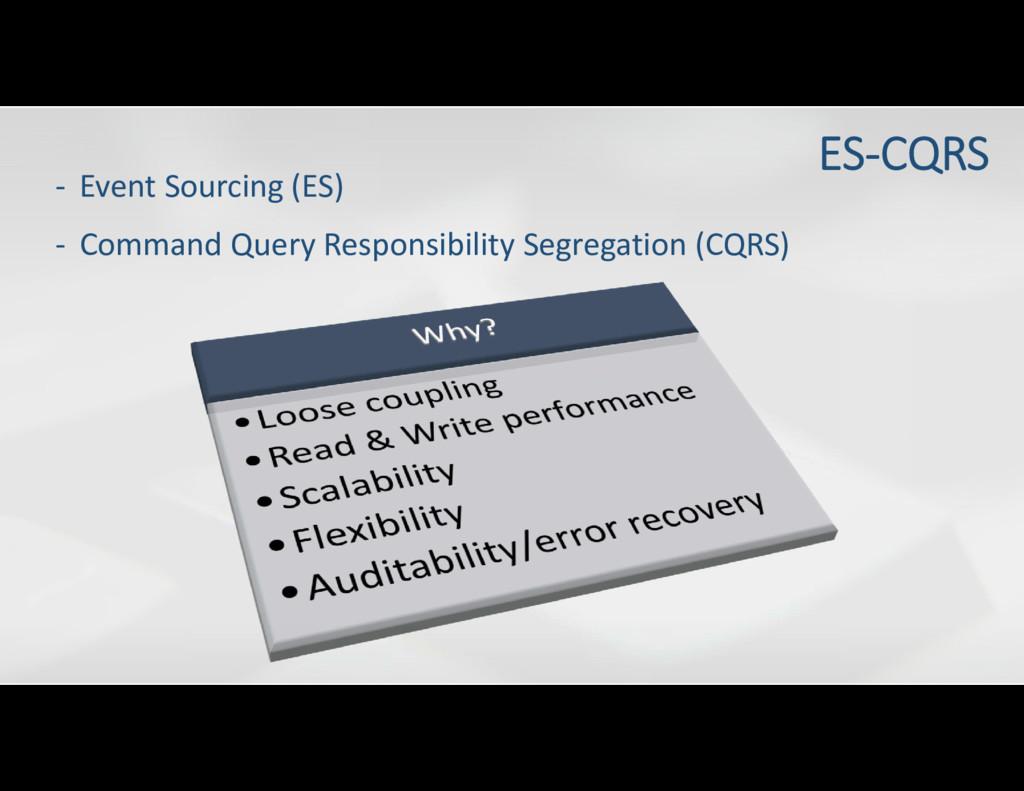 - Event Sourcing (ES) ES-CQRS - Command Query R...
