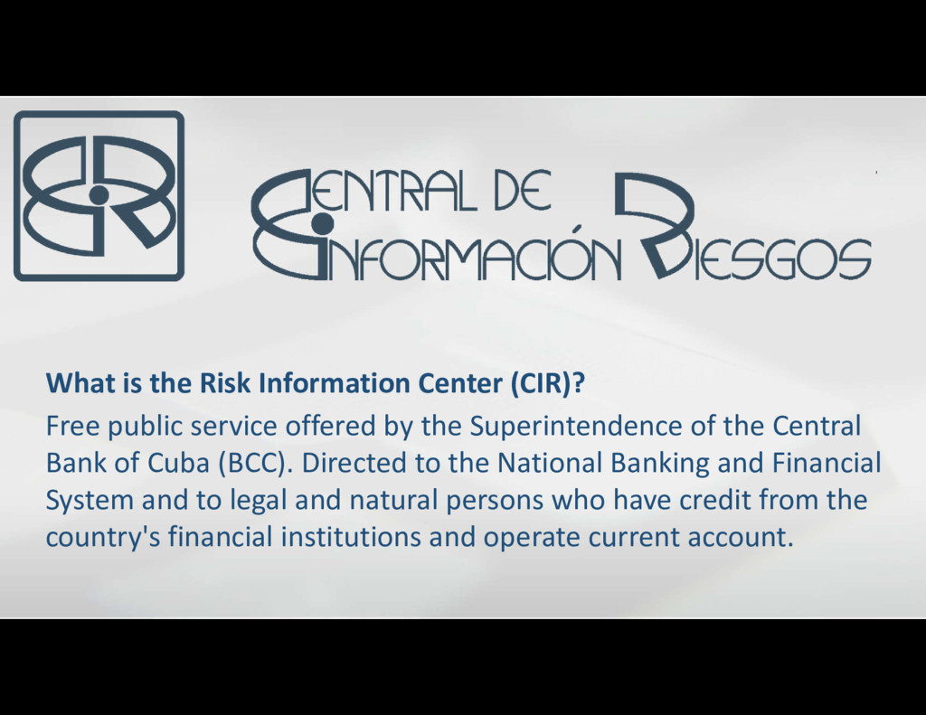 What is the Risk Information Center (CIR)? Free...