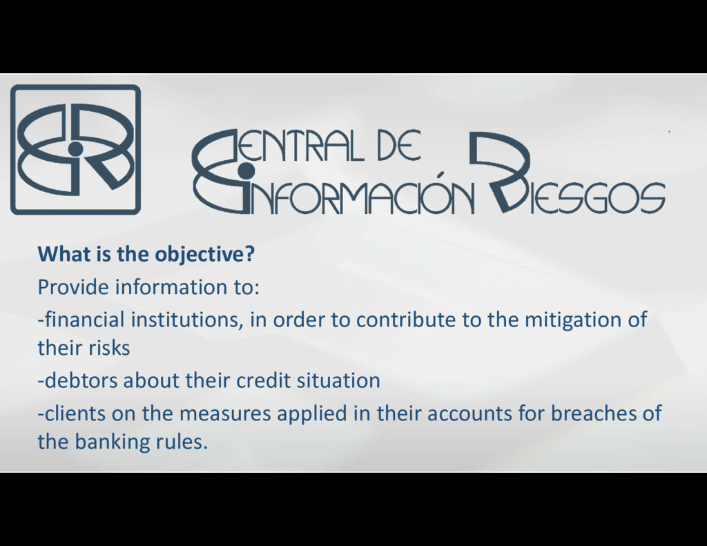 What is the objective? Provide information to: ...