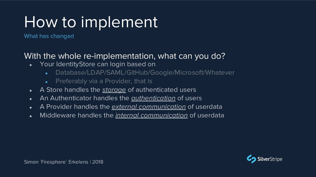 With the whole re-implementation, what can you ...