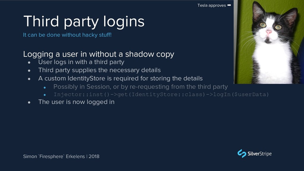 Logging a user in without a shadow copy Third p...