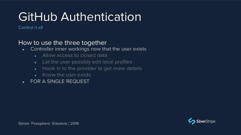 How to use the three together GitHub Authentica...