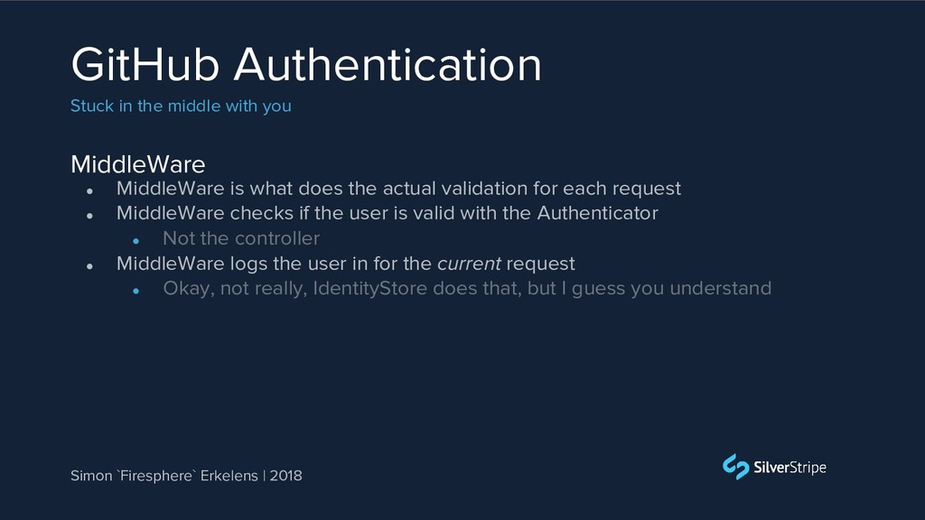 MiddleWare GitHub Authentication Stuck in the m...