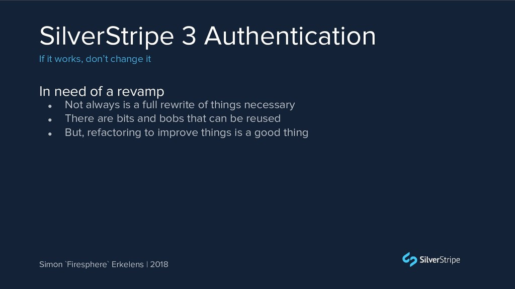 In need of a revamp SilverStripe 3 Authenticati...