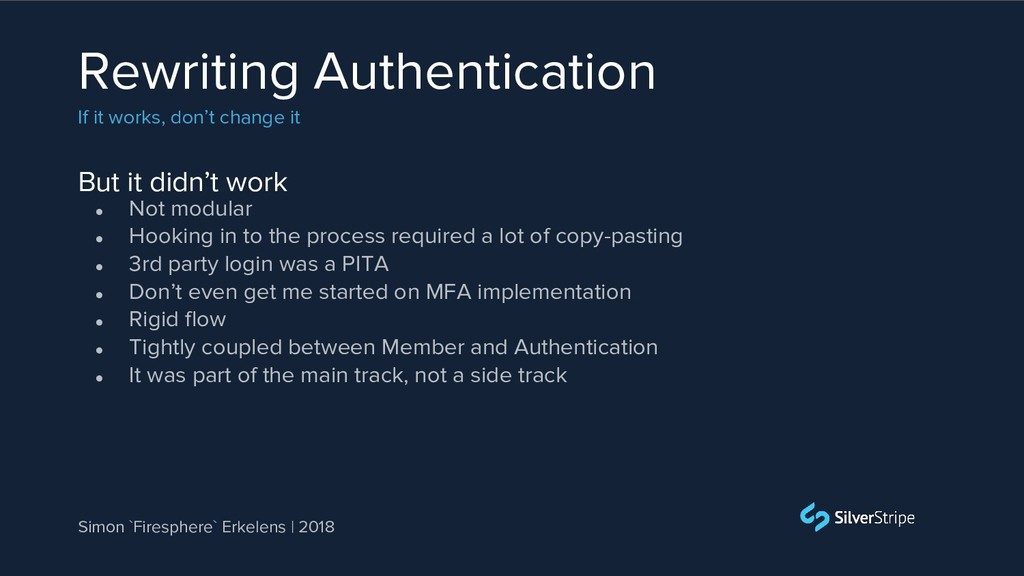 But it didn't work Rewriting Authentication If ...