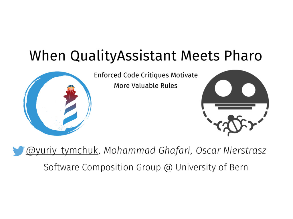 @yuriy_tymchuk When QualityAssistant Meets Phar...