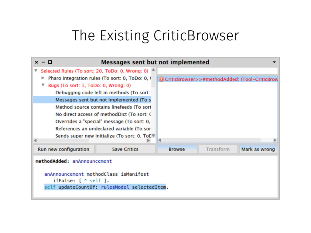 The Existing CriticBrowser