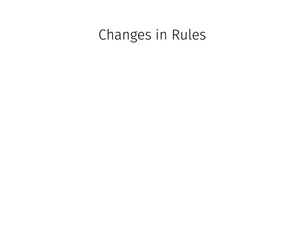 Changes in Rules