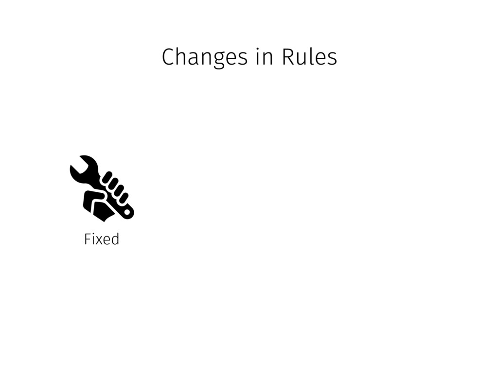 Changes in Rules Fixed