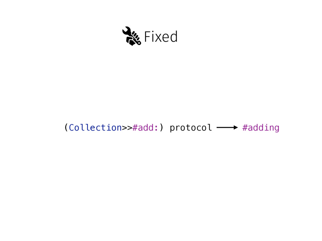 Fixed (Collection>>#add:) protocol #adding