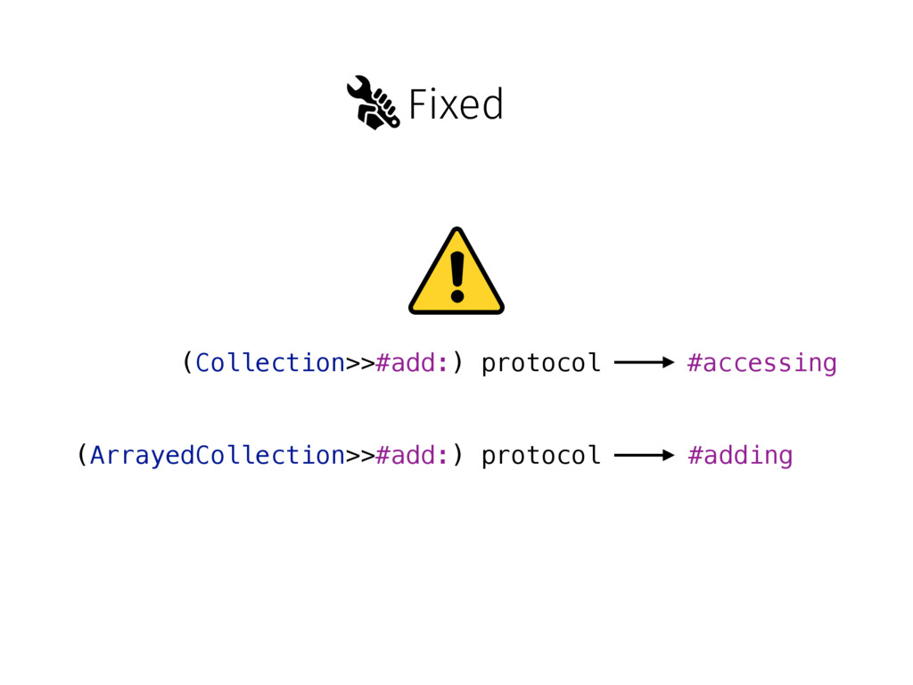 Fixed (Collection>>#add:) protocol (ArrayedColl...