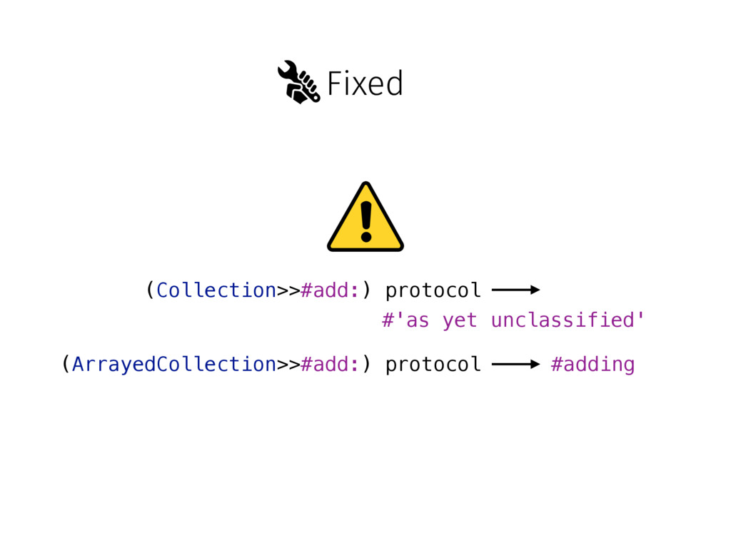 Fixed (Collection>>#add:) protocol #'as yet unc...